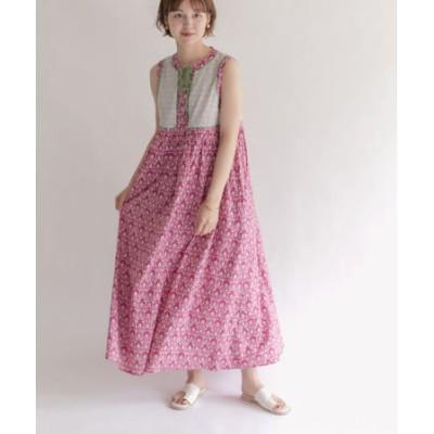 【WEB限定】配色パイピングプリントドレス