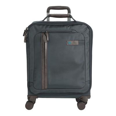 PIQUADRO キャスター付きバッグ ブルーグレー 紡績繊維 キャスター付きバッグ