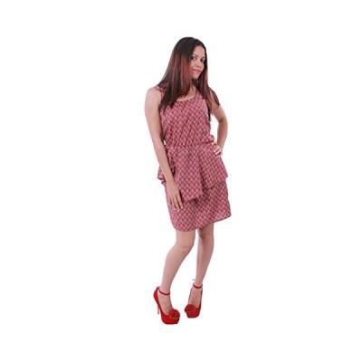 Bar III レディース Sleeveless Scoop ネック Peplum ドレス-XL-Licorice レッド(海外取寄せ品)