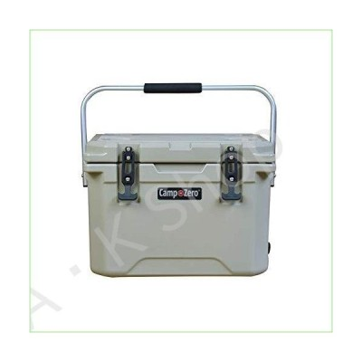 CAMP-ZERO 20L   21.13 Quart Premium Cooler/Ice Chest with 4 Molded-in Cup Holders   Beige【並行輸入品】
