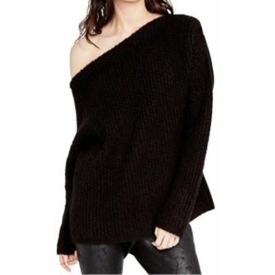 Rachel Roy レイチェルロイ ファッション トップス Rachel Rachel Roy NEW Black Womens Size Large L One-Shoulder Sweater
