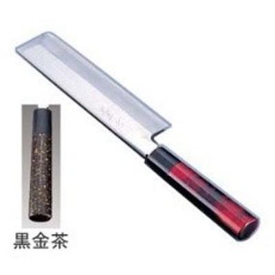 ATD0301 歌舞伎調和庖丁 忠舟 薄刃 18cm 黒金茶 :_