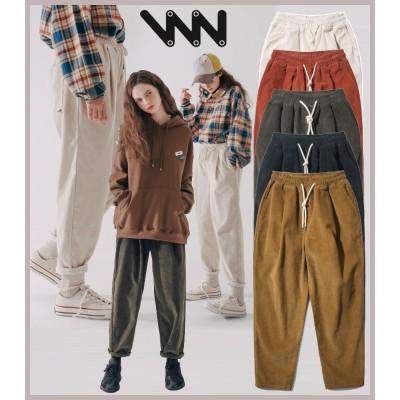 WV  PROJECT  チュロスコーデュロイ  バンディングパンツ、男女兼用パンツ、コーデュロイ  パンツ、バンディングパンツ、暖かい冬パンツCJLP7423