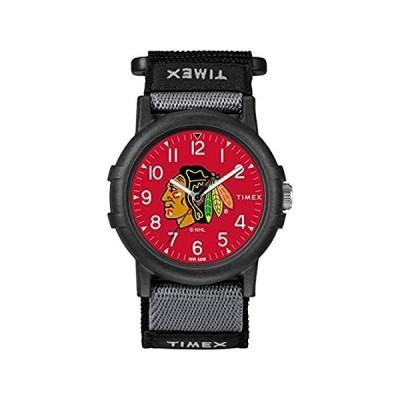 Timex シカゴ・ブラックホークス ユース用 FastWrap リクルート 腕時計
