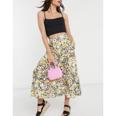 エイソス レディース スカート ボトムス ASOS DESIGN printed pocket midi skirt in floral print Multi