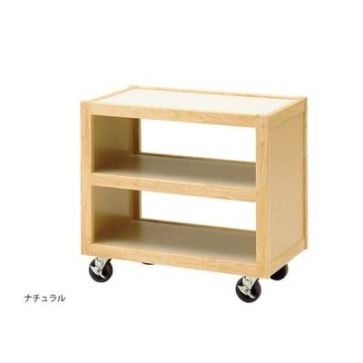 エコノミーサービスワゴン 木製 ナチュラル ブラウン 店舗備品 日本製 木製ワゴン キャスター キッチンワゴン 配膳 サービスワゴン 国産