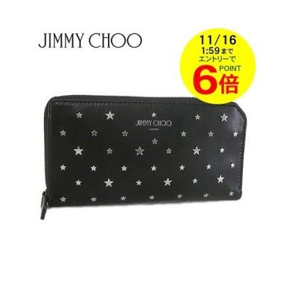 訳あり/ジミーチュウ/JIMMY CHOO メンズ 長財布 ABIKO UXI/BLACK/ブラック/セール/201114