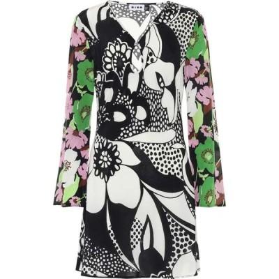 リキソ Rixo レディース ワンピース ワンピース・ドレス Julie floral crepe minidress Abstract 60s Floral Swirl
