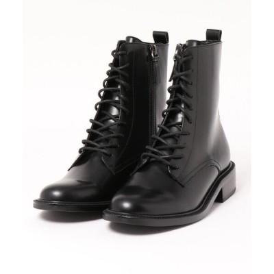 ブーツ 【Made in Japan】本革レースアップブーツ