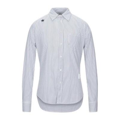 THE EDITOR ストライプ柄シャツ ファッション  メンズファッション  トップス  シャツ、カジュアルシャツ  長袖 ブルー