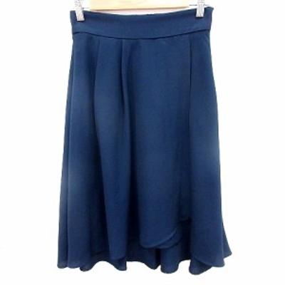 【中古】ボニースプリングス BONNIE SPRINGS スカート フレア ミモレ ロング 1 紺 ネイビー /RT レディース