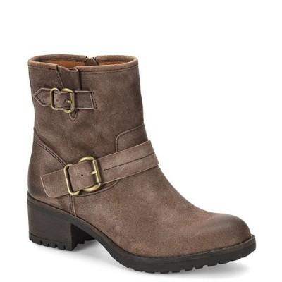 コンフォーティバ レディース ブーツ・レインブーツ シューズ Barron Leather Buckle Block Heel Booties