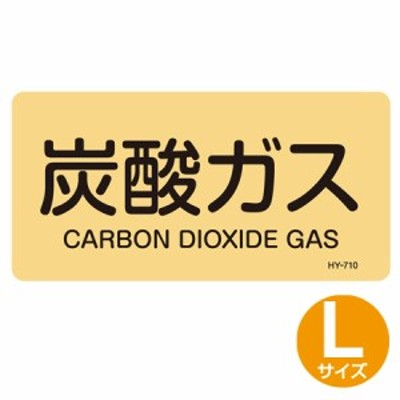 JIS配管アルミステッカー ガス関係 「炭酸ガス」 Lサイズ 10枚組 ( 表示シール アルミシール )