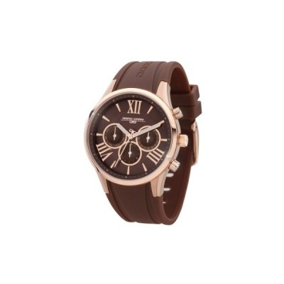 Jorg Gray Women's Quartz Watch with Brown Dial Analogue Display and Brown Rubber Strap JG1500-21 並行輸入品