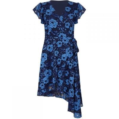 ユミ Yumi レディース ワンピース ワンピース・ドレス Soft Lace Asymmetric Dress Navy