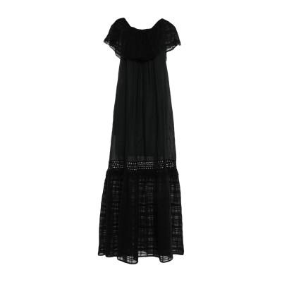 MYF ロングワンピース&ドレス ブラック XL コットン 100% ロングワンピース&ドレス