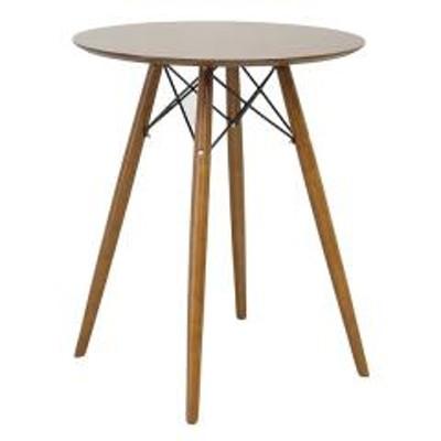 10%OFFクーポン対象商品 コーヒーテーブル 高さ72cm テーブル カフェテーブル 机 小さい つくえ ブラウン ( 送料無料 サイドテーブル ソファテーブル ミニ 丸 丸テーブル 木製 リビングテーブル ナイトテーブル ソファサイド ベッドサイド ) クーポンコード:7CLY8DW