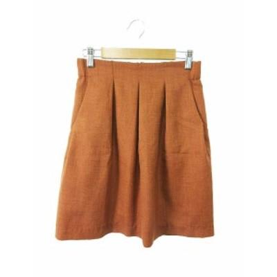 【中古】ストロベリーフィールズ STRAWBERRY-FIELDS スカート 台形 ミニ 2 茶色 ブラウン /YK36 レディース
