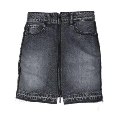 マルセロ ブロン MARCELO BURLON デニムスカート ブラック 26 コットン 72% / 指定外繊維(ヘンプ) 28% デニムスカート