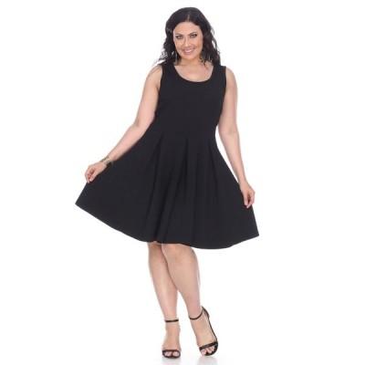 ホワイトマーク ワンピース トップス レディース Women's Plus Size Crystal Dress Black