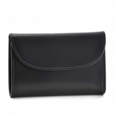 ホワイトハウスコックス/WHITEHOUSE COX 財布 メンズ ブライドルレザー 三つ折り財布 BLACK S1112-SC-0001