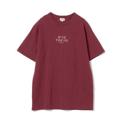 【ビームス アウトレット】 SOFT CREAM × BEAMS / 別注 ロゴ プリント Tシャツ メンズ BURGUNDY M BEAMS OUTLET