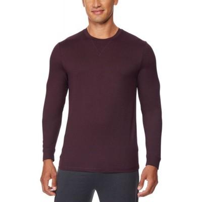 サーティーツーディグリー 32 Degrees メンズ パジャマ・トップのみ インナー・下着 Ultra Lux Long-Sleeve Sleep T-Shirt Ht Acai Berry