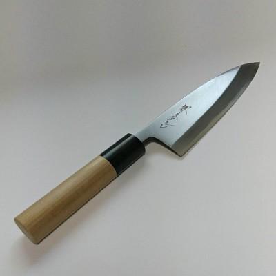 在庫処分特価50%OFF 出刃包丁13.5cm 堺金吉 白ニ鋼 水牛柄 135mm