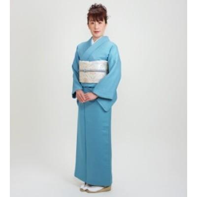 【色無地 レンタル 袷】〔10月~5月向き〕濃ブルー色 お茶会 入学式 卒業式【往復送料無料】NT-74