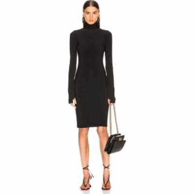 ノーマ カマリ Norma Kamali レディース ワンピース タートルネック ワンピース・ドレス Slim Fit Turtleneck Dress Black