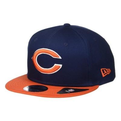 ニューエラ New Era レディース キャップ スナップバック 帽子 NFL Basic Snap 9FIFTY Snapback Cap - Chicago Bears Navy/Orange
