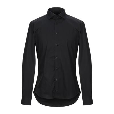 アレッサンドロデラクア ALESSANDRO DELL'ACQUA シャツ ブラック L コットン 97% / ポリウレタン 3% シャツ