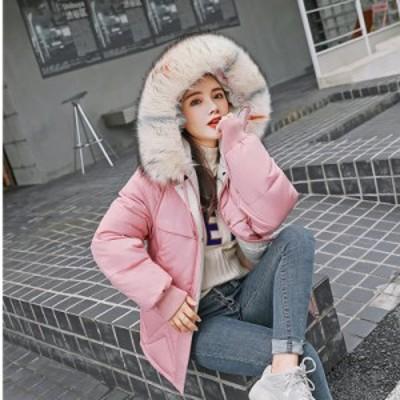 即納 ファッション レディース ダウンコート ダウンジャケットフード付き 大きいサイズ アウター フェイクファー 防寒 防風 厚手 通勤