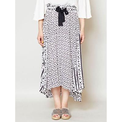 【チャイハネ】イスラミックモザイクタイル柄スカート ブラック