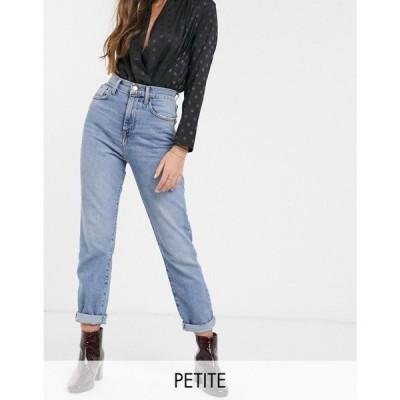 ニュールック New Look Petite レディース ジーンズ・デニム ボトムス・パンツ straight leg jean in mid blue ブルー