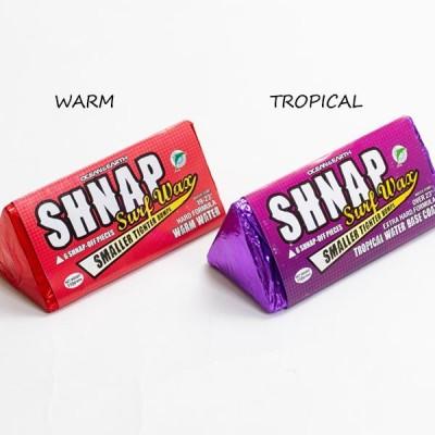 サーフィン ワックス OCEAN&EARTH SNAP WAX  サーフィン用ワックス 小分け6ピース チョコレートフレーバー