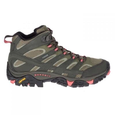 メレル Merrell レディース ランニング・ウォーキング ブーツ シューズ・靴 Moab 2 Mid Gtx Walking Boots Beluga/Olive