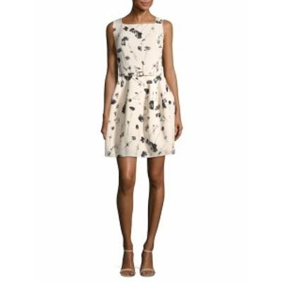 オスカーデラレンタ レディース ワンピース Printed Fit-and-Flare Dress