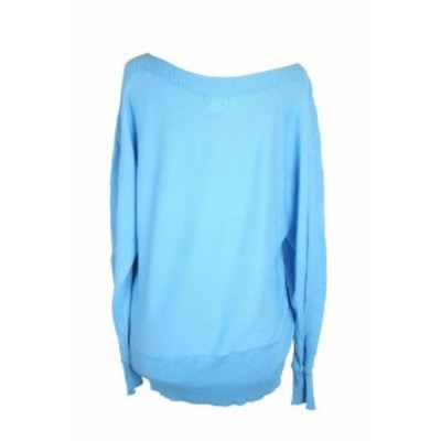 Alfani  ファッション トップス Alfani Aruba Blue Ribbed Panel Dolman Sweater S