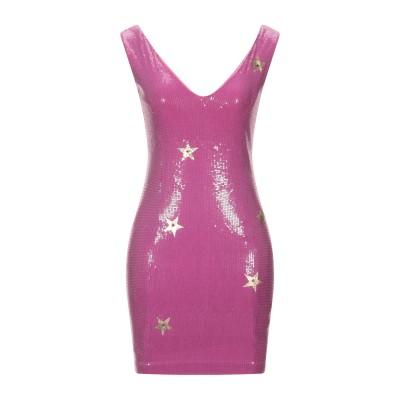 EAN 13 ミニワンピース&ドレス モーブ 42 コットン 95% / ポリウレタン 5% ミニワンピース&ドレス