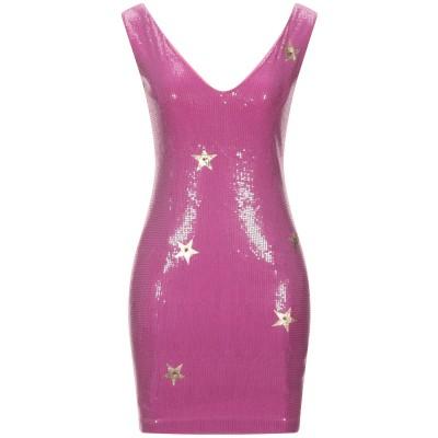 EAN 13 ミニワンピース&ドレス モーブ 38 コットン 95% / ポリウレタン 5% ミニワンピース&ドレス