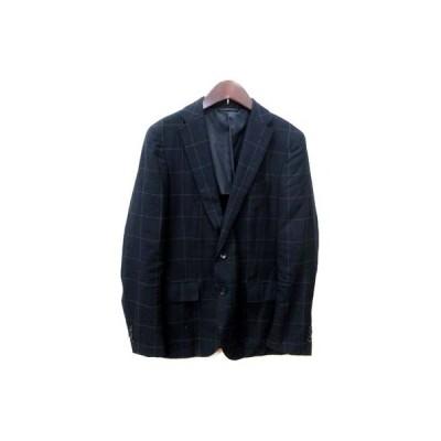 【中古】シンプリシテェ SIMPLICITE テーラードジャケット シングル 背抜き 46 紺 ネイビー /YI メンズ 【ベクトル 古着】