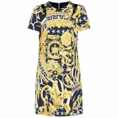 ヴェルサーチ Versace レディース ワンピース ワンピース・ドレス Printed silk-blend minidress Gold/Print