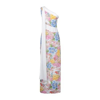GIL SANTUCCI ロングワンピース&ドレス ホワイト 40 ポリエステル 100% ロングワンピース&ドレス