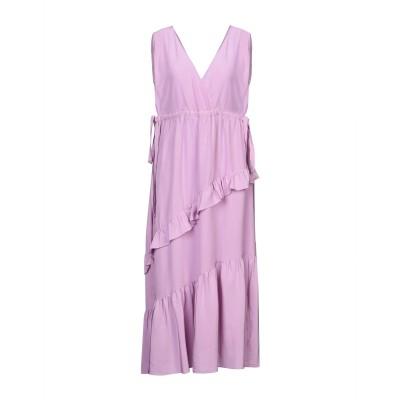 テーラ TELA 7分丈ワンピース・ドレス ライラック M シルク 100% 7分丈ワンピース・ドレス