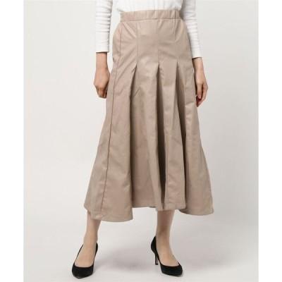 スカート エコレザーパネルスカート