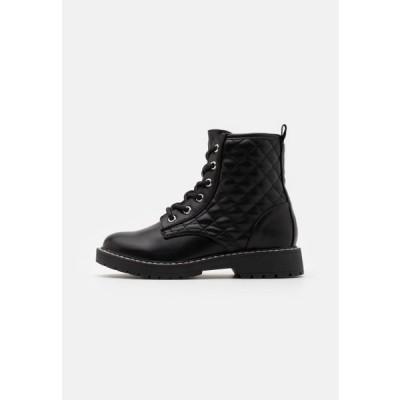 スティーブマデン キッズ 靴 シューズ JBETTY - Lace-up ankle boots - black