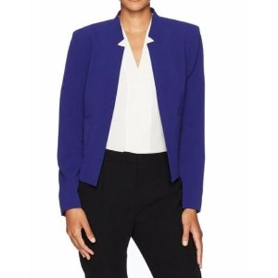 Nine West ナインウエスト ファッション 衣類 Nine West NEW Blue Womens Size 12 Star-Neck Stretch Flyaway Jacket