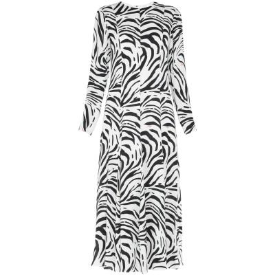 エムエスジーエム MSGM ロングワンピース&ドレス ホワイト 38 レーヨン 100% ロングワンピース&ドレス