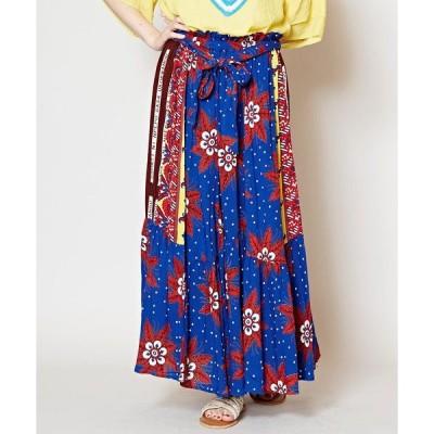 【チャイハネ】アフリカ・カンガ柄ロングスカート